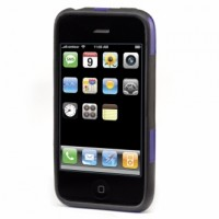 Fusion Hard Case for iPhone 3G - Violet/Black 1