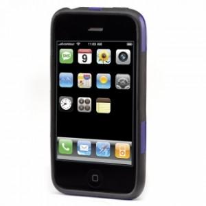 Fusion Hard Case for iPhone 3G - Violet/Black 1